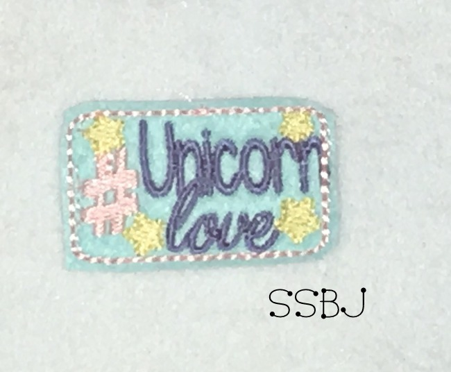 SSBJ Hashtag Unicorn Love Embroidery File