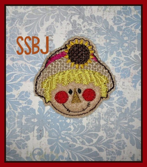 SSBJ Sunflower Scarecrow Embroidery File