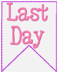 SSBJ Banner Planner Embroidery File-Last Day