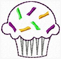 SS Sprinkle Cupcake Embroidery File
