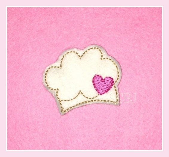SSBJ Valentine Bakers Hat Embroidery File
