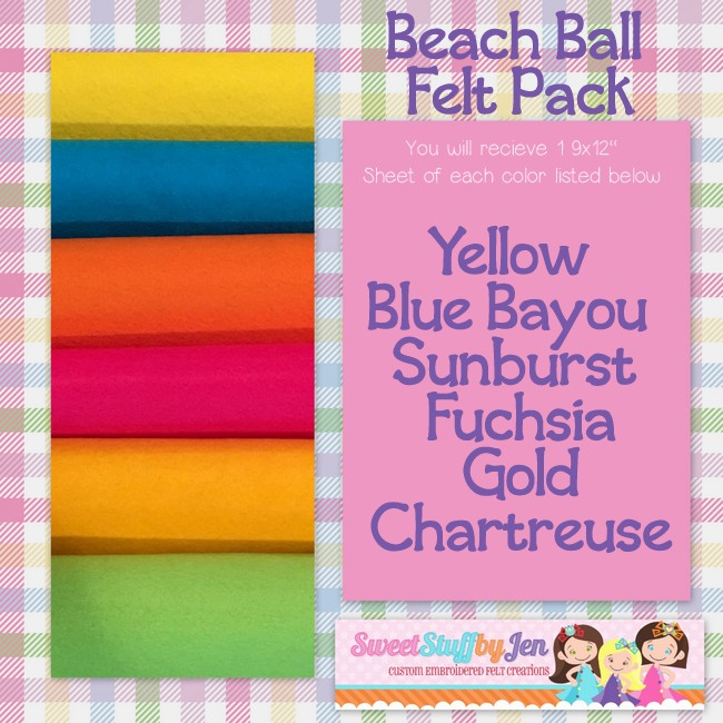 Beach Ball Felt Variety Pack