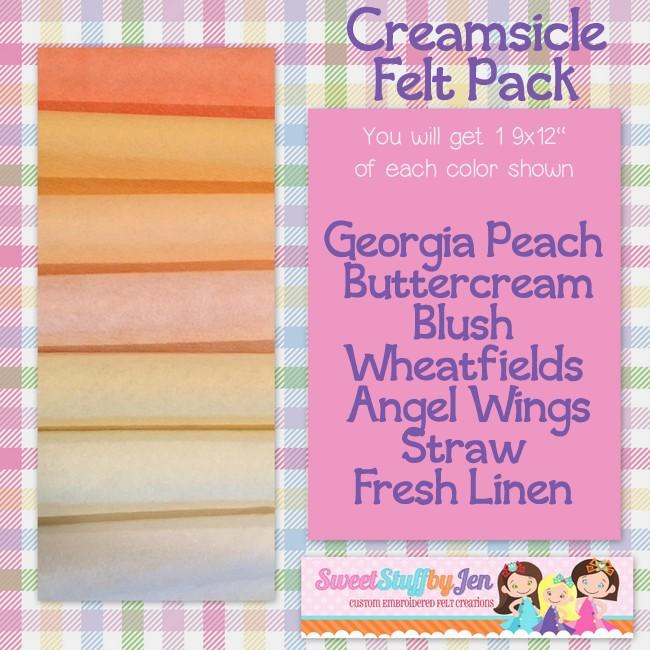 Creamsicle Felt Variety Pack