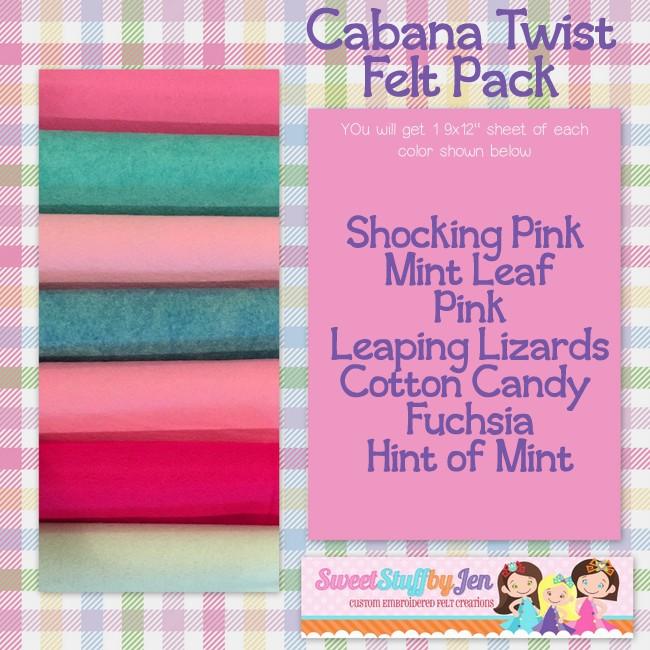 Cabana Twist Felt Variety Pack