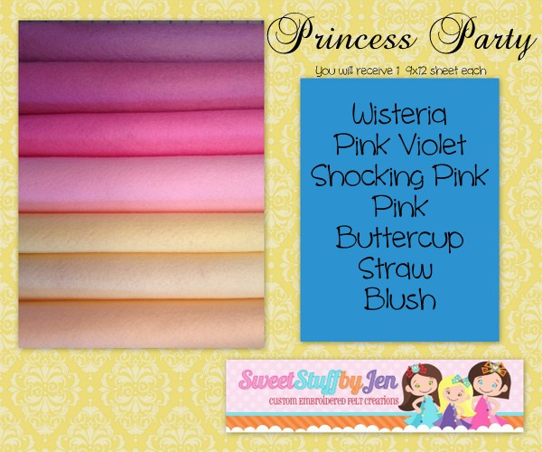 Princess Party Wool Felt Pack