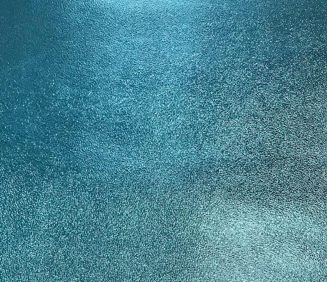 Sandstone Metallic Embroidery Vinyl Aqua