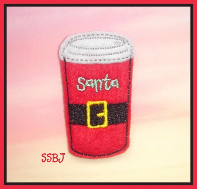 Santa's Latte Embroidery File
