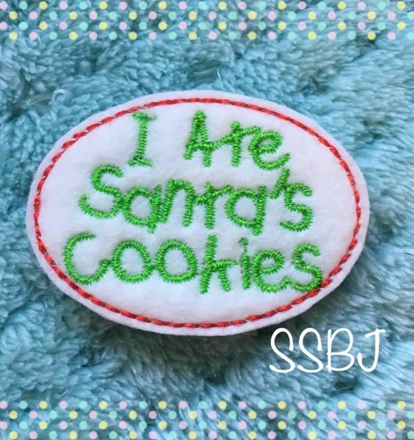 SSBJ I Ate Santa's Cookies Embroidery File