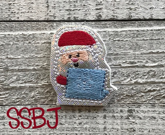 SSBJ Santa Laptop Embroidery File
