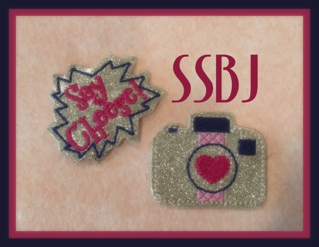SSBJ Say Cheese! Camera and Banner Feltie Embroidery File