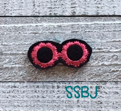 SSBJ Scallop Sunglasses Embroidery File
