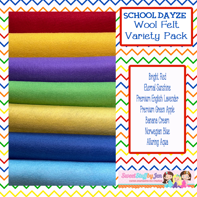 School Dayze Wool Blend Felt Variety Pack