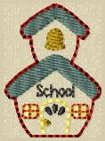 School House Embroidery File