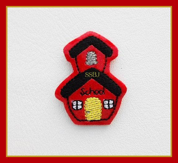 SSBJ School House 2 Embroidery File-FILLED Door