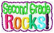 Second Grade Rocks Feltie Embroidery File