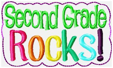 Second Grade Rocks Glam Band Embroidery File