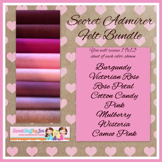 Secret Admirer  Valentine Wool Blend Felt