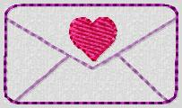 Sending Love Embroidery File