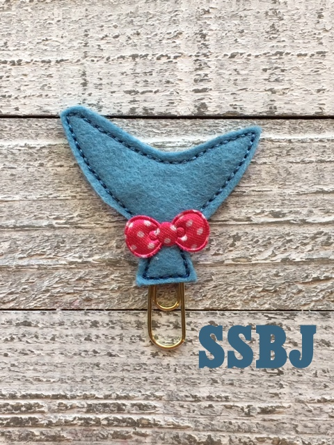 SSBJ Peeker Planner Animal Tail Shark Embroidery File