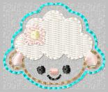 Shelly Sheep FACE Embroidery File
