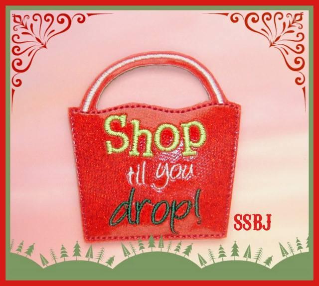 Shop til you drop Embroidery File
