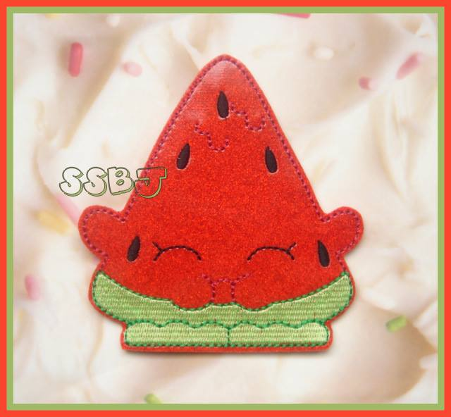 Shopkins Watermelon Embroidery File