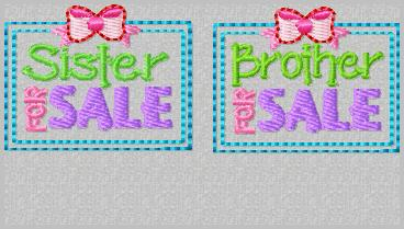 Brother For Sale Embroidery File