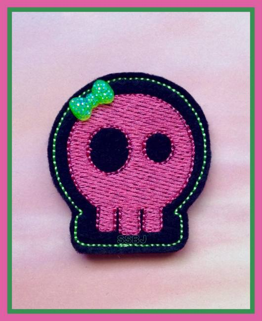 Skull Embroidery File