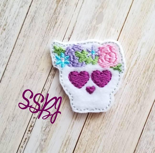 SSBJ Skull Tiara Embroidery File