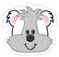 Skunk Boy FILLED Embroidery File