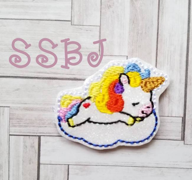 SSBJ Sleepy Unicorn Embroidery File