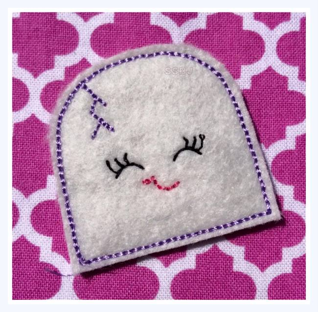 Smiley Headstone Embroidery File