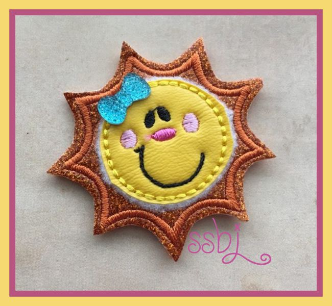 SSBJ Smiley Sun Embroidery File