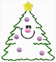 Smiley Tree Embroidery File