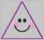 Smiley Triangle Embroidery File