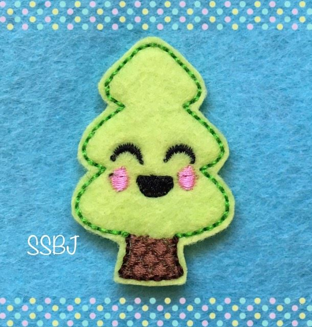 SSBJ Smiley Christmas Tree Embroidery File