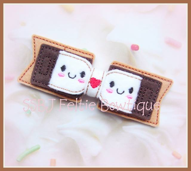 Smores Puffy Bow Embroidery File