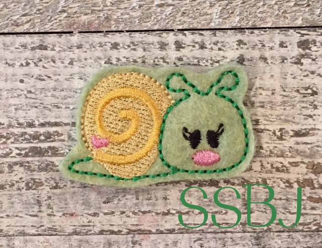 SSBJ Snail 2 Filled Embroidery File
