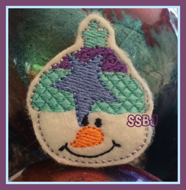 Star Bright Snowman Embroidery File
