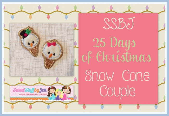 SSBJ Snow Cone Couple Embroidery File