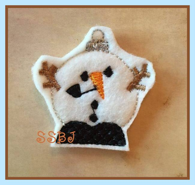 SSBJ Snowman Ornament Embroidery File