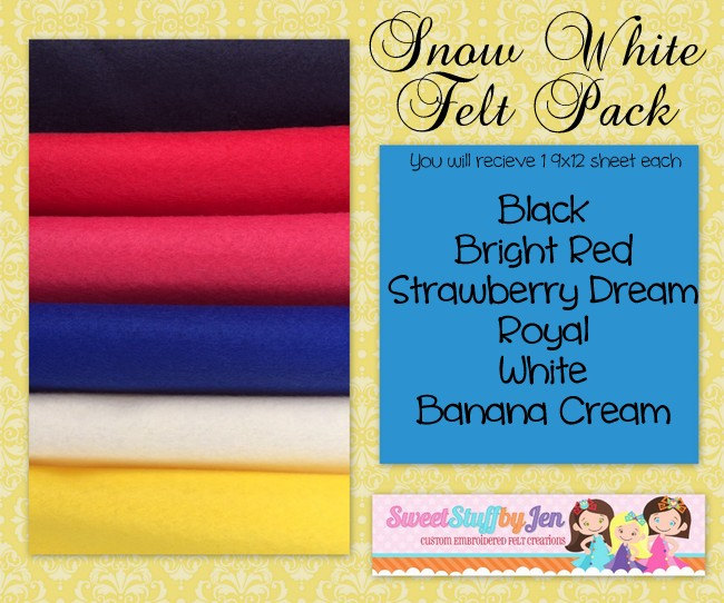 Princess Snow White Inspired Felt Bundle