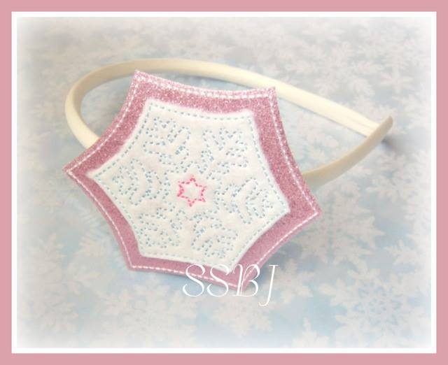 Winter Snowflake Glam Band & Embroidery File