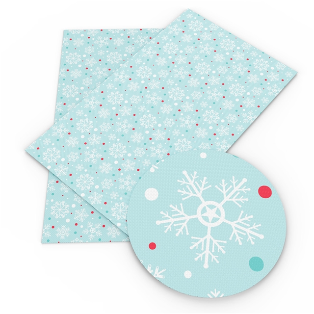 Winter Snowflakes Printed Embroidery Vinyl