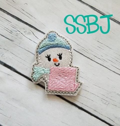 SSBJ Snowman Laptop Embroidery File