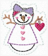 Snowy Snowgirl Embroidery File BODY