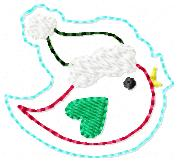 Santa Songbird Embroidery File