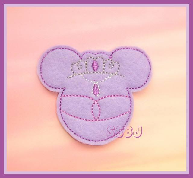 Sophia Princess Mouse Embroidery File