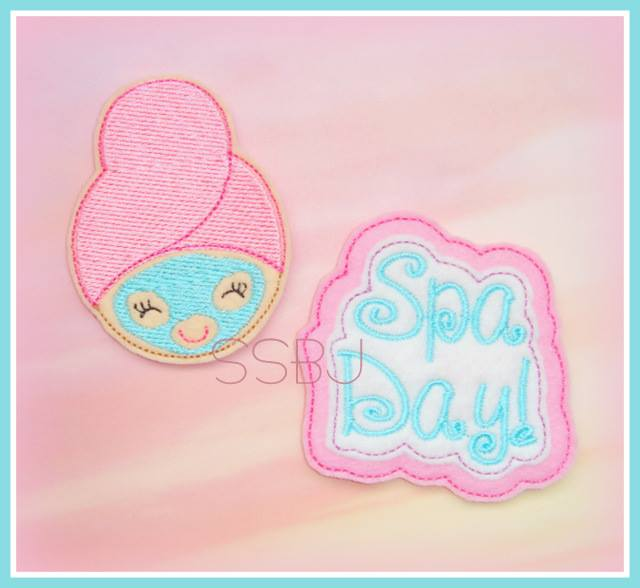 Spa Girl Embroidery File