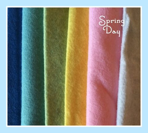 Spring Day 8x8 Wool Felt Bundle